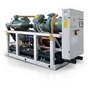 Water to water heat pumps, reversible on hydraulic side