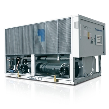 Air to water reversible heat pumps