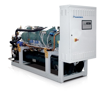 Water to water reversible heat pumps