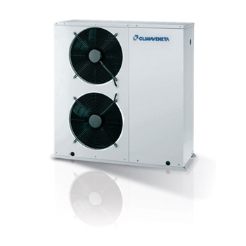 Air to water reversible heat pumps with total heat recovery optimized for heating