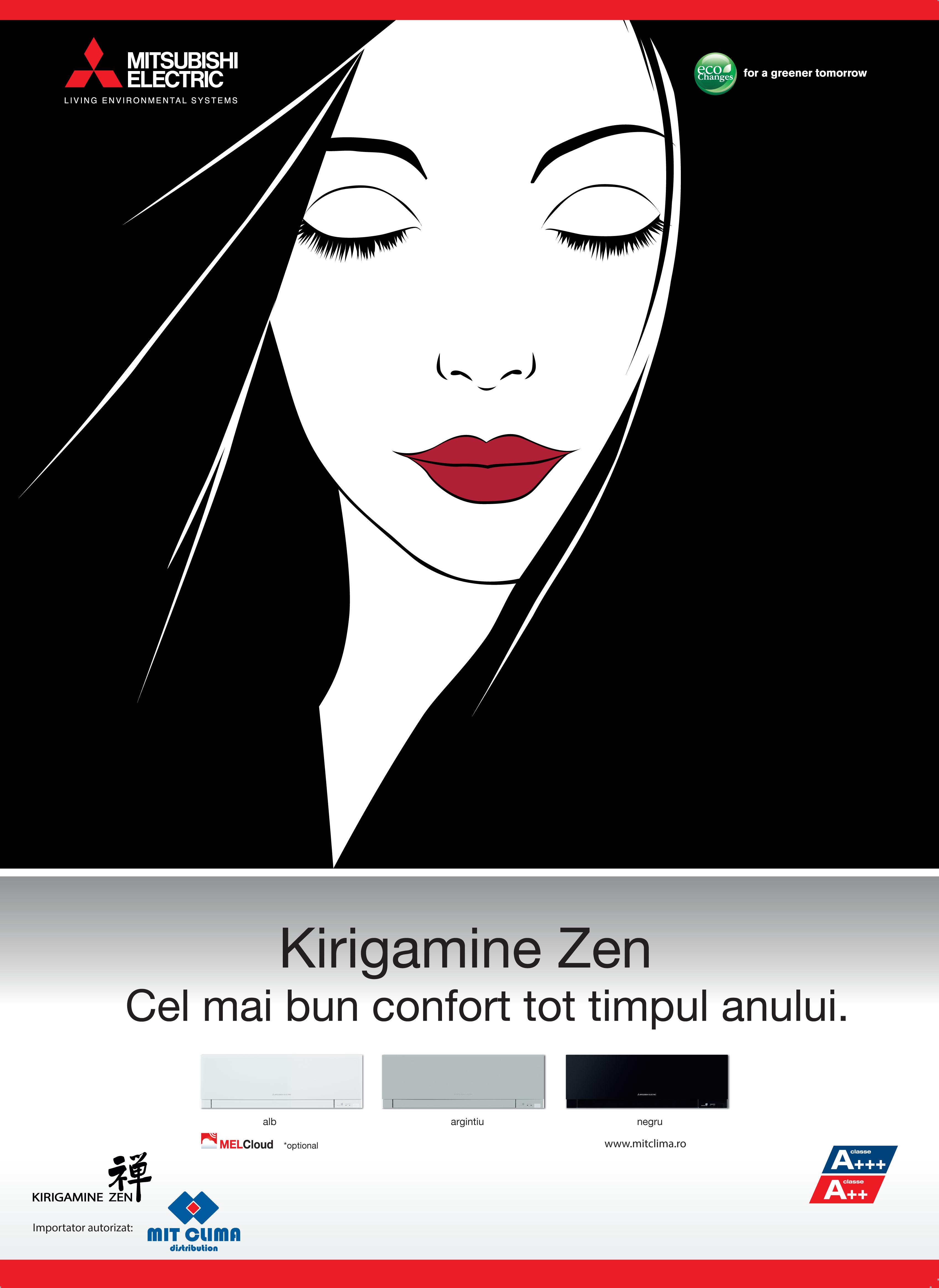 Poster Kirigamine Zen - Manga Black