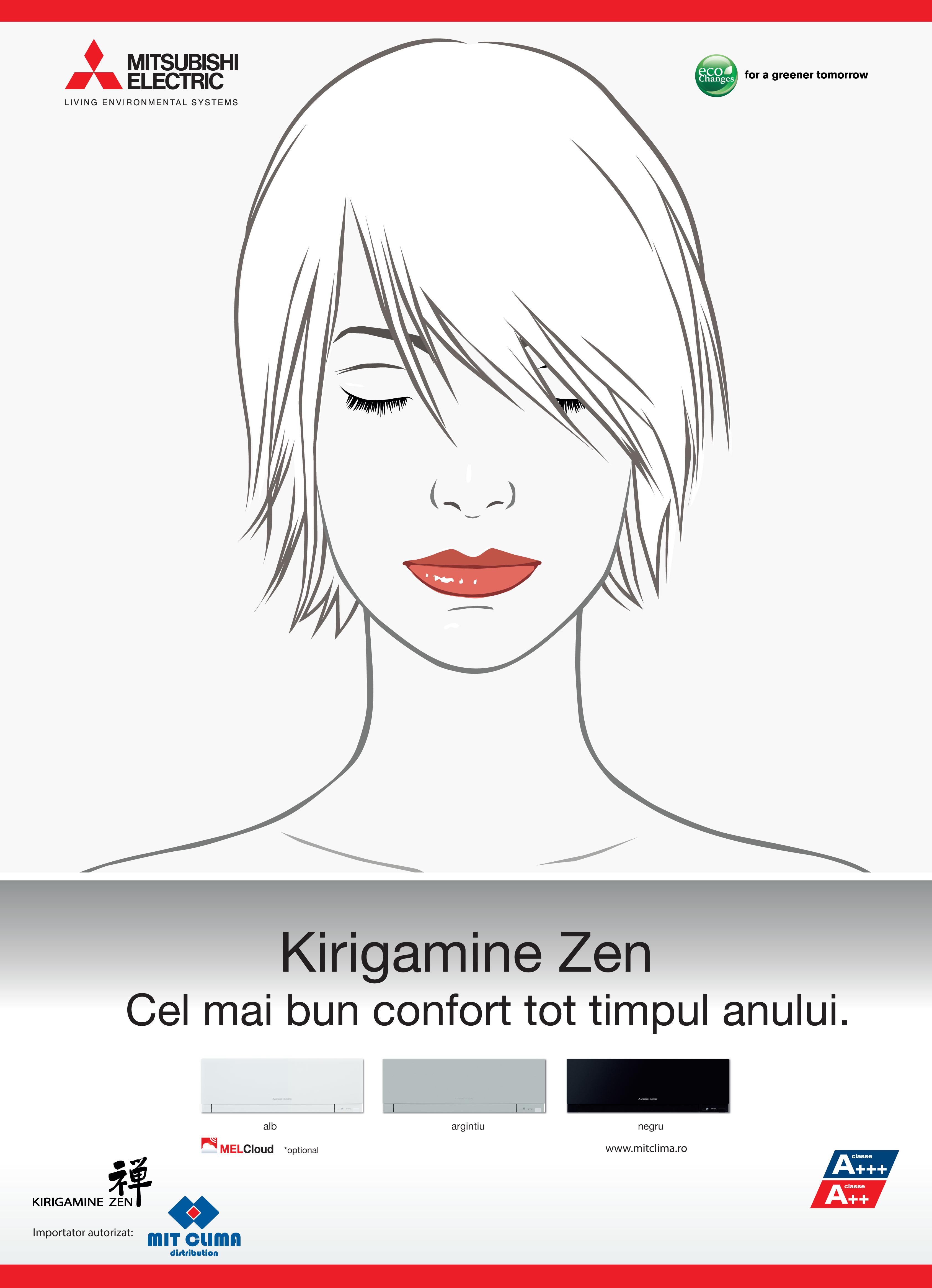 Poster Kirigamine Zen - Manga White